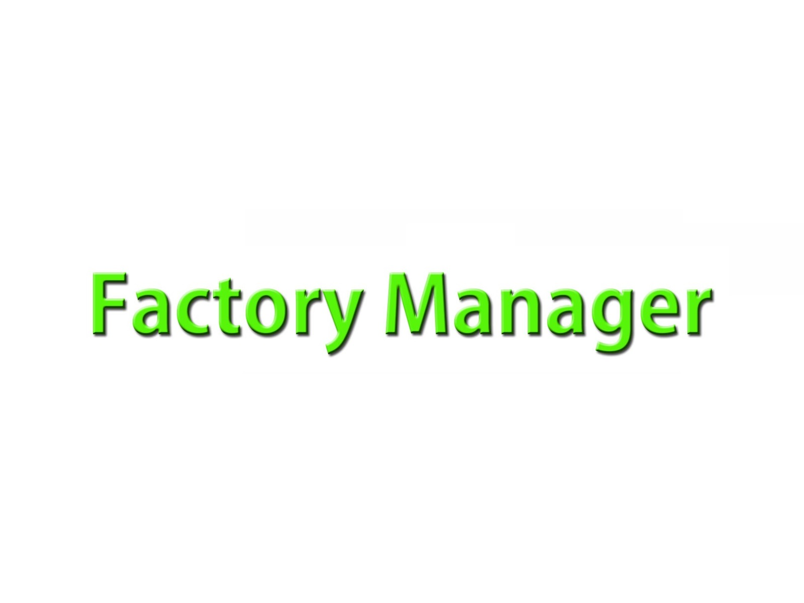 Factory-Manager-Job